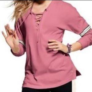 Victoria Secret Pink lace up long sleeve